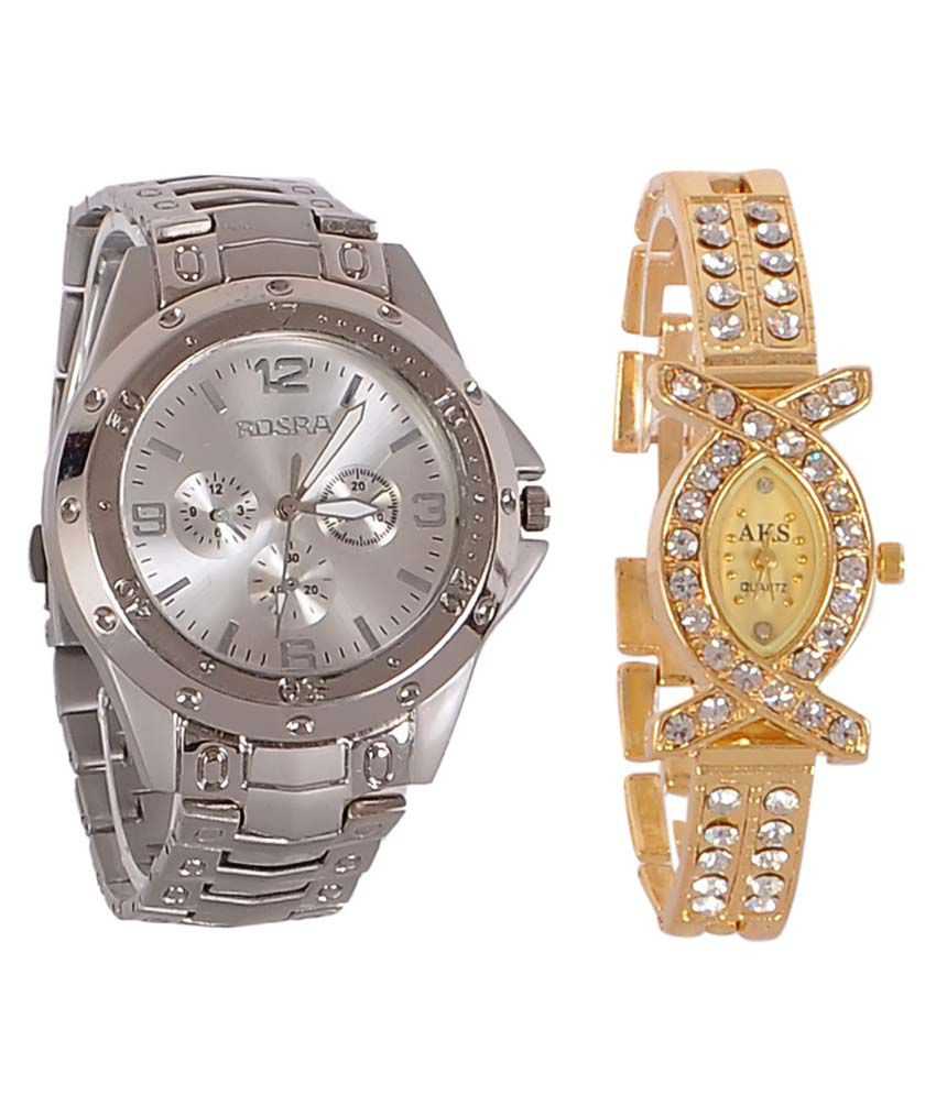 Rosra silver round analog watch buy 1 get 1 price in for What watch to buy