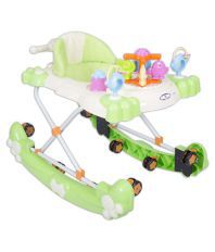 HLX-NMC 2 IN 1 BABY WALKER CUM ROCKER GREEN