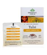 Organic India Tulsi Green - Lemon Ginger Combo ( 3 x 18 Tea Bags )