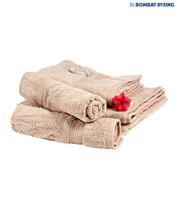 Bombay Dyeing Super Ultrx Beige & Hand Towel Set
