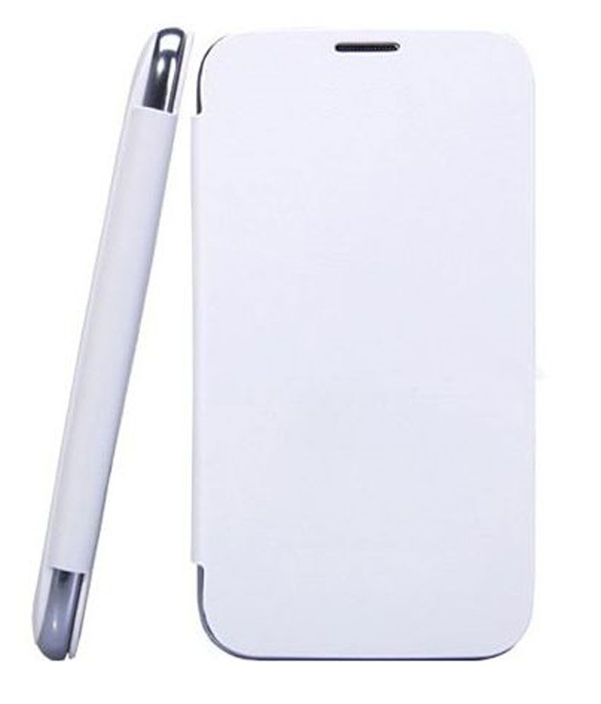 Feomy Flip Cover For Xolo Q900  White  available at SnapDeal for Rs.290