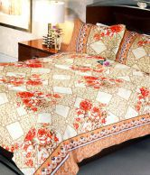 Uber Urban Floral Bunch Double Bed Sheet With 2 Pillow Covers