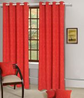 House This Red Cotton Xl Curtain