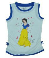 Disney Sleeveless Princess Printed White & Royal Color T-Shirt For Kids
