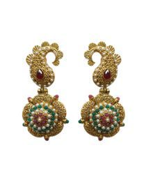 La Trendz Gold Plated Fashionable Hanging Earring