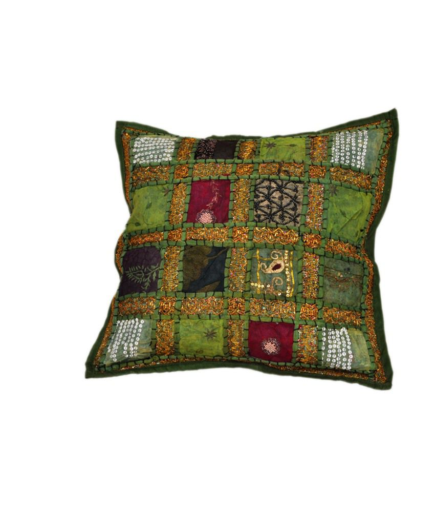 Icb Multicolour Cotton Traditional Cushion Cover: Buy Online at Best Price Snapdeal