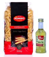 Romero Espirales Pasta 500gm Pack Of 2 + Abaco Pure Olive Oil 100ml