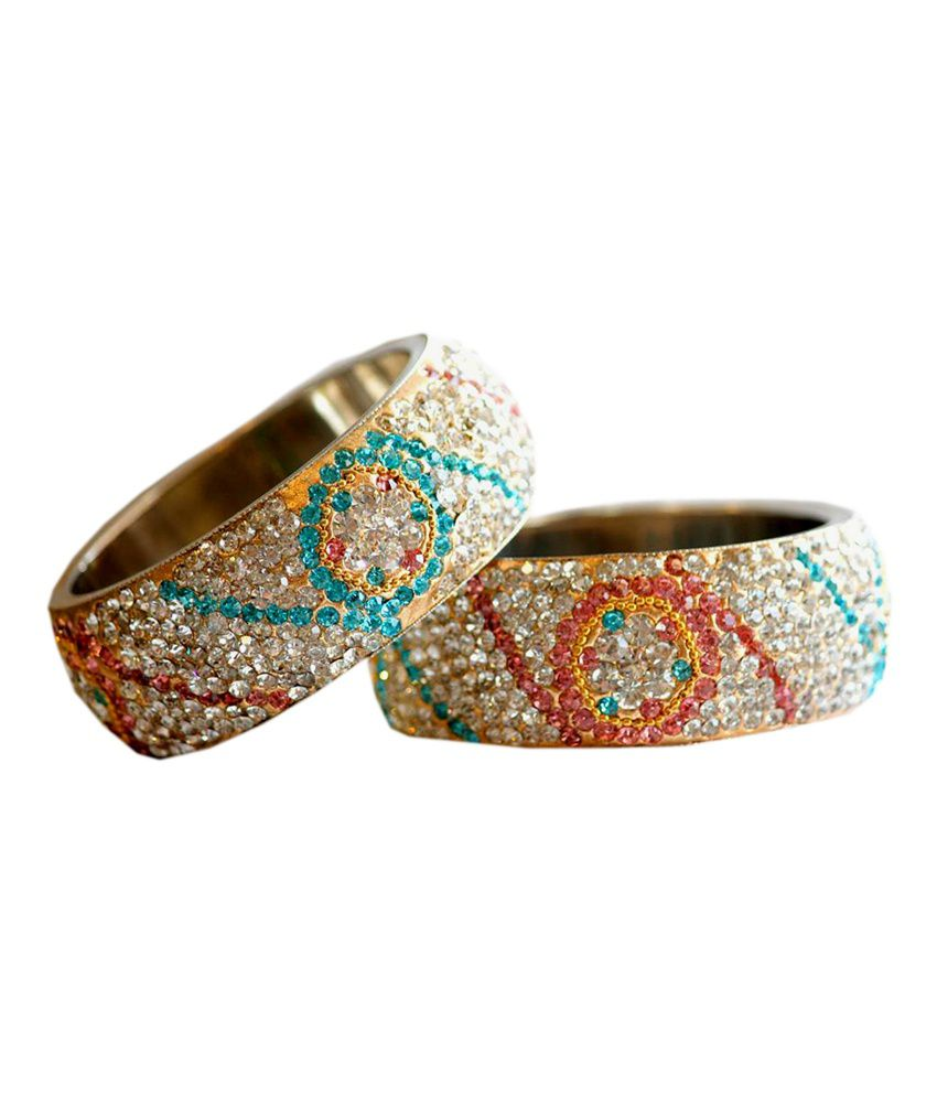 Shree Radhika Kangan Silver Raajwada Thick Bangle: Buy