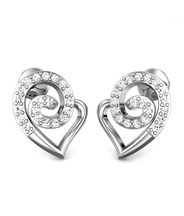 Candere Amorette Diamond Earrings White Gold 14K