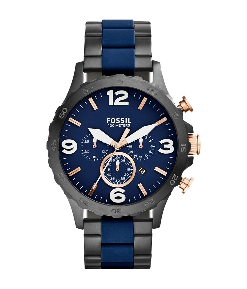 fossil blue dial watch for men jr1494 buy fossil blue dial watch fossil blue dial watch for men jr1494