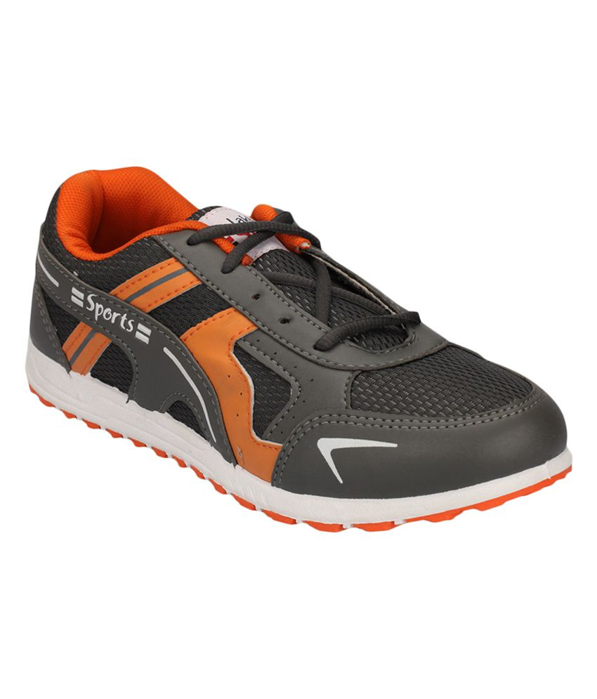 lakhani sports gray rubber sport shoes available at