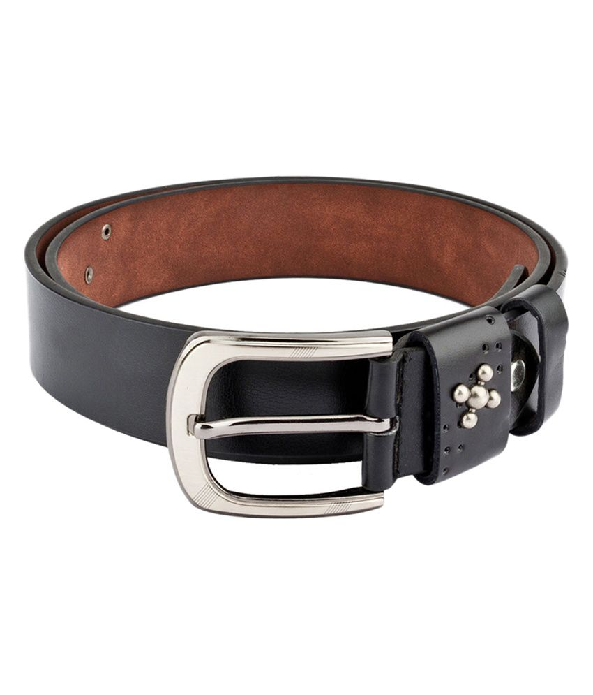 Swiss Design Men Casual Black Leatherite Belt - SDBLT-117-BLK