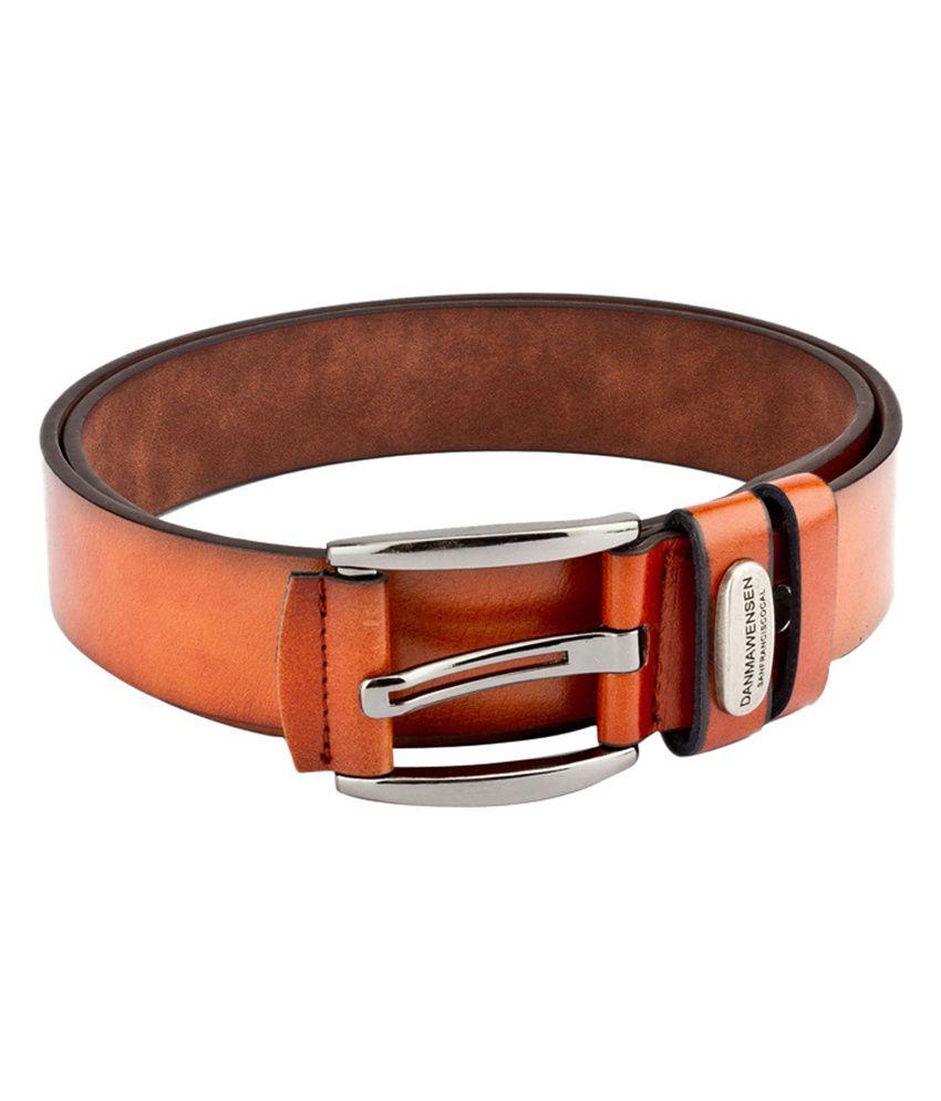 Swiss Design Men Casual Tan Leatherite Belt - SDBLT-115-TN