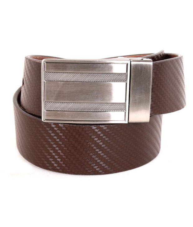 Tepl Brown Leather Belt