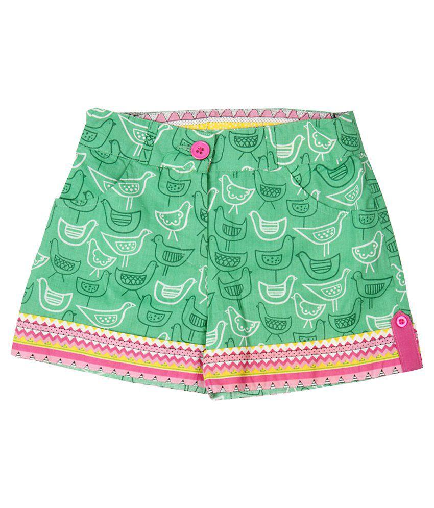 Akkriti by Pantaloons Green Shorts