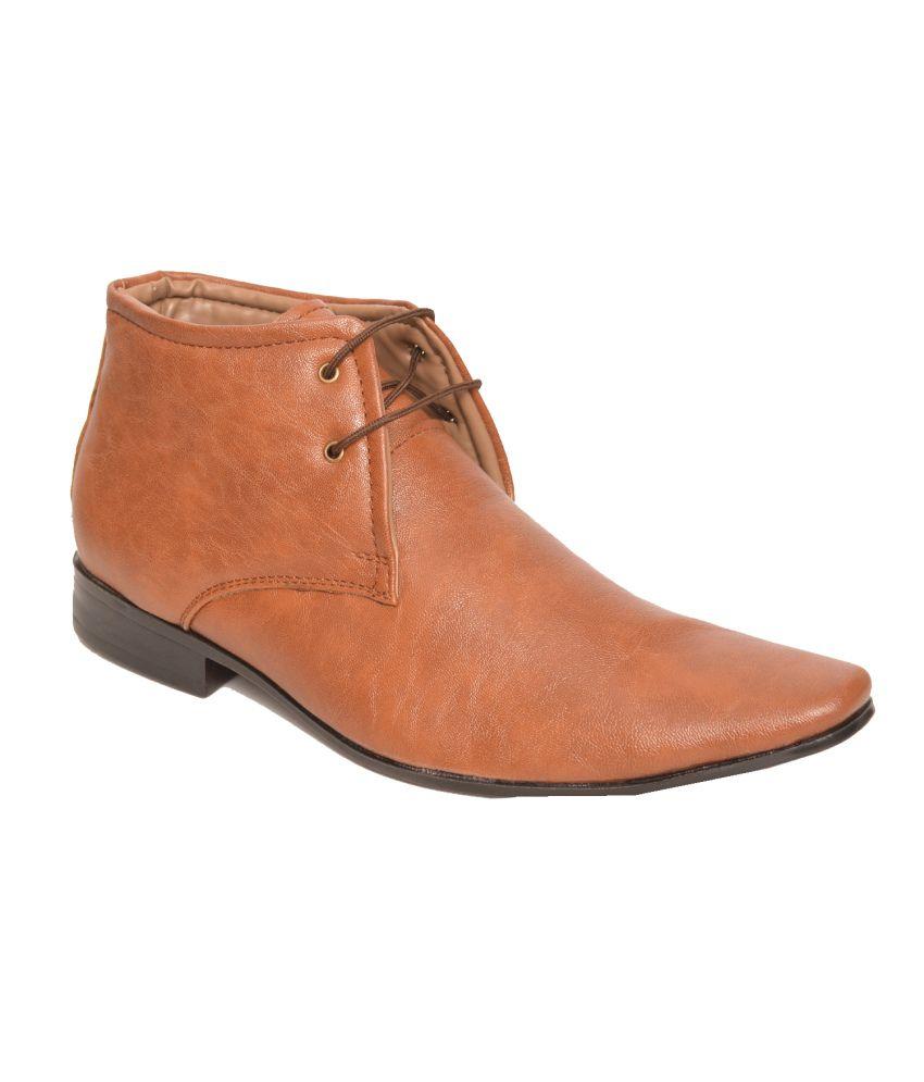Le Men'z Tan Formal Shoes
