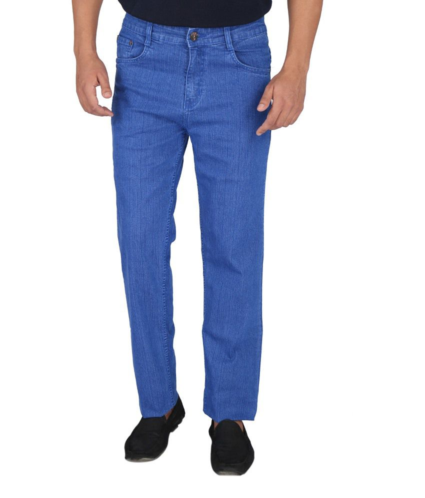 Denim-O Blue Cotton Jeans