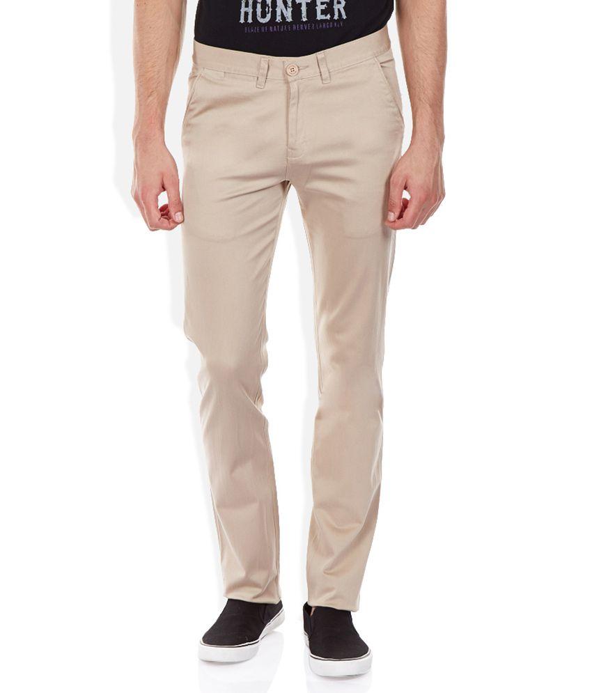Duke Beige Regular Fit Trousers