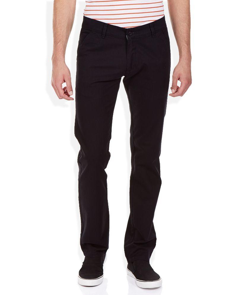 Duke Black Slim Fit Trousers