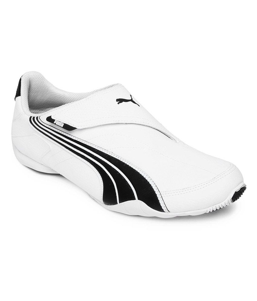 7c195e1f261576 Puma White Synthetic Leather Velcro Sneaker Shoes - Buy Puma White  Synthetic Leather Velcro Sneaker Shoes Online at Best Prices in India on  Snapdeal