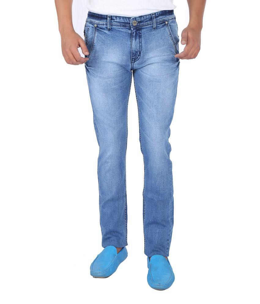 Savino Blue Cotton Jeans
