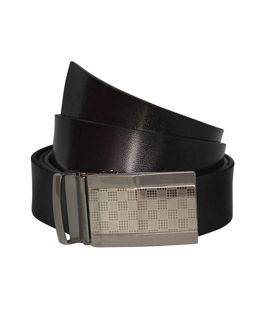 Bueva Black Leather Autolock Buckle Formal Belt