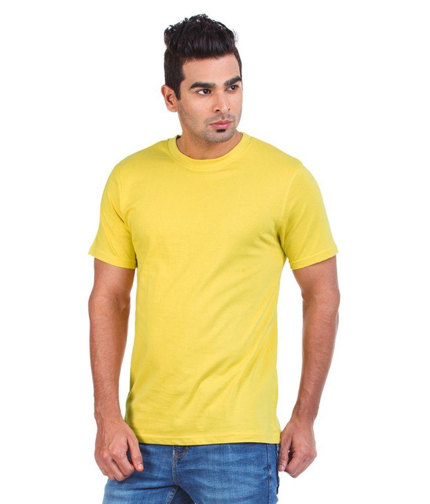Crush On Craze Yellow Cotton Round Neck T-Shirt