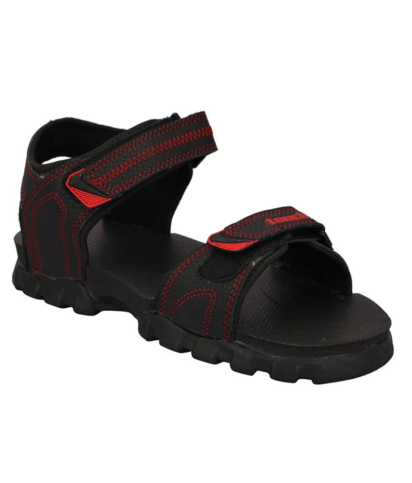 Lakhani Touch Black Floater Sandals