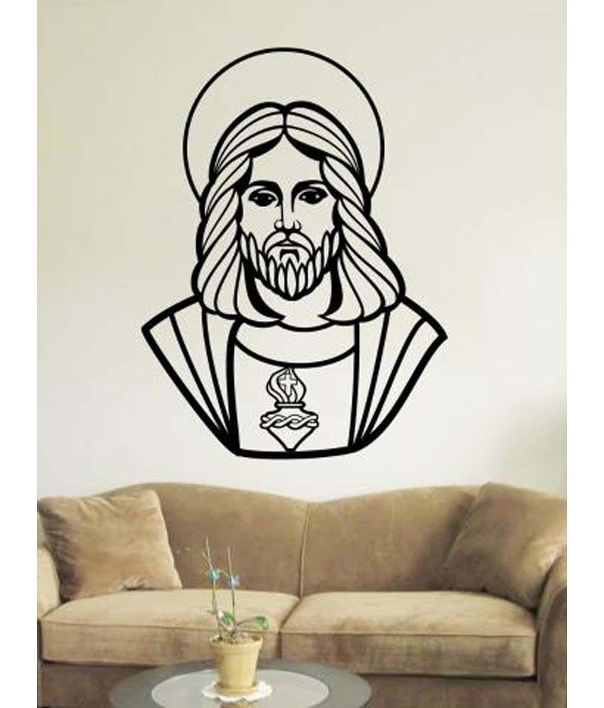 Jesus Wall Decoration : Wallmantra jesus christ wall decor sticker buy