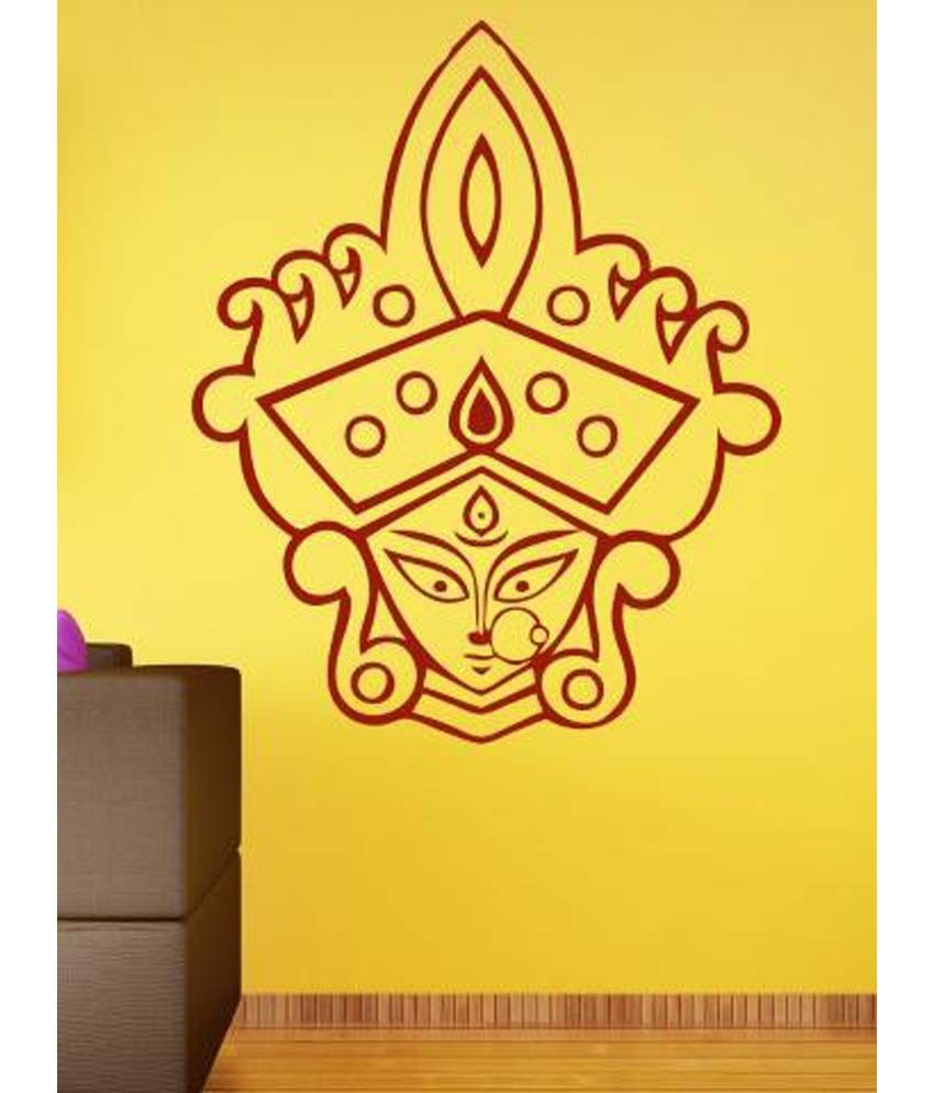 Wallmantra Maa Durga With Mukut Wall Decor Wall Sticker - Buy ...