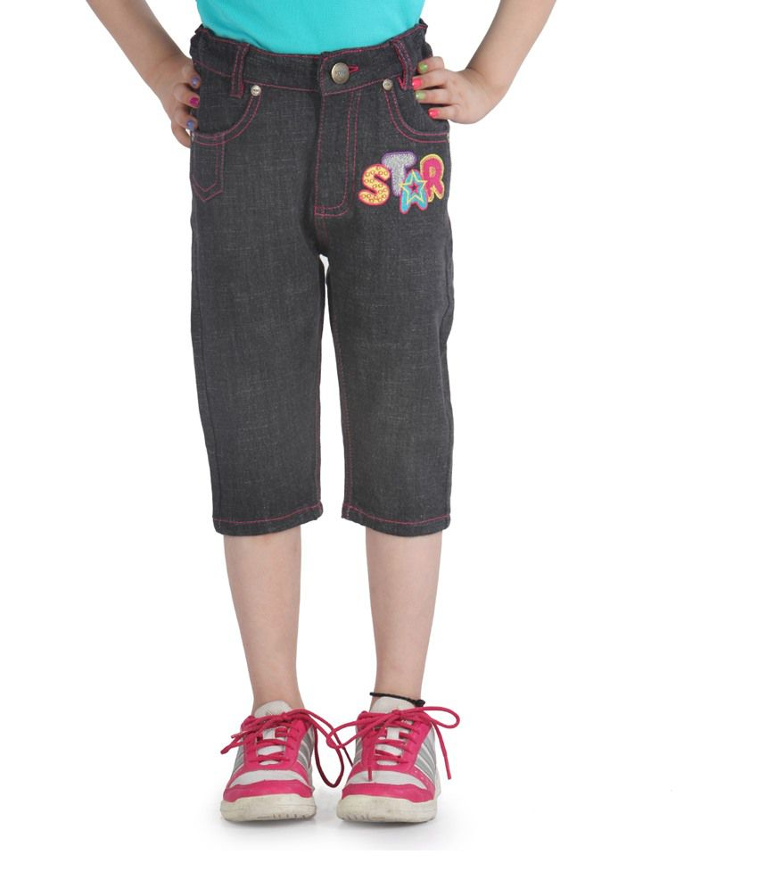 Posh Kids Blue Cotton Capris