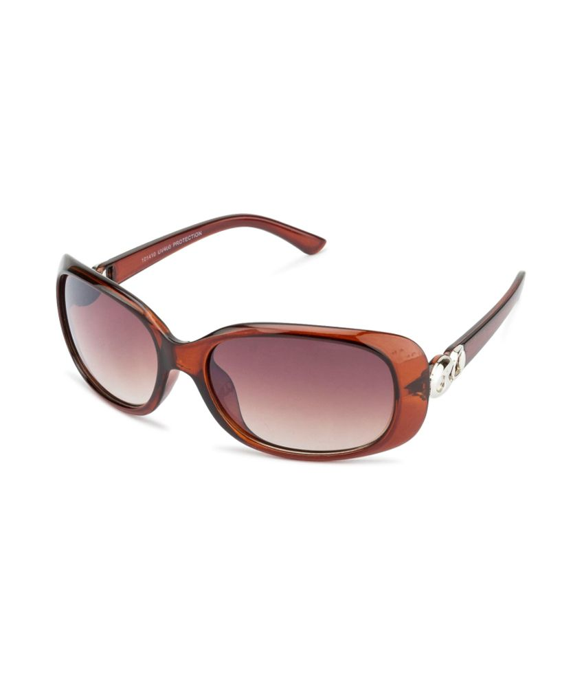 Rafa Brown Rectangle Women Sunglasses