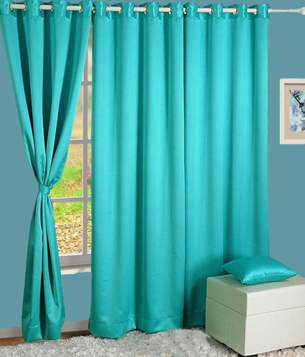 HOMEC Single Window Blackout Eyelet Curtain Solid Black