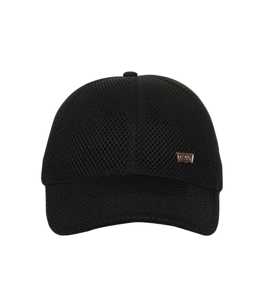 7a1c3882ed7 Promoworks Black Plain Polyester Caps - Buy Online   Rs.