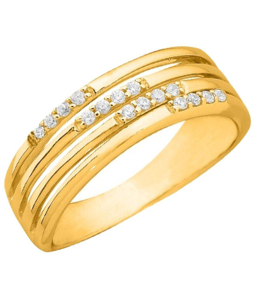 Sparkles 0.15 Ct Diamond & Gold Ring for Women