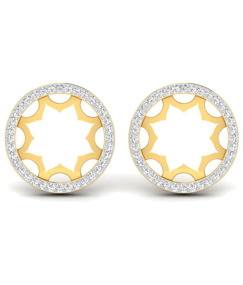 Sparkles 0.2 Ct Diamond & 18 Kt Gold Stud Earrings