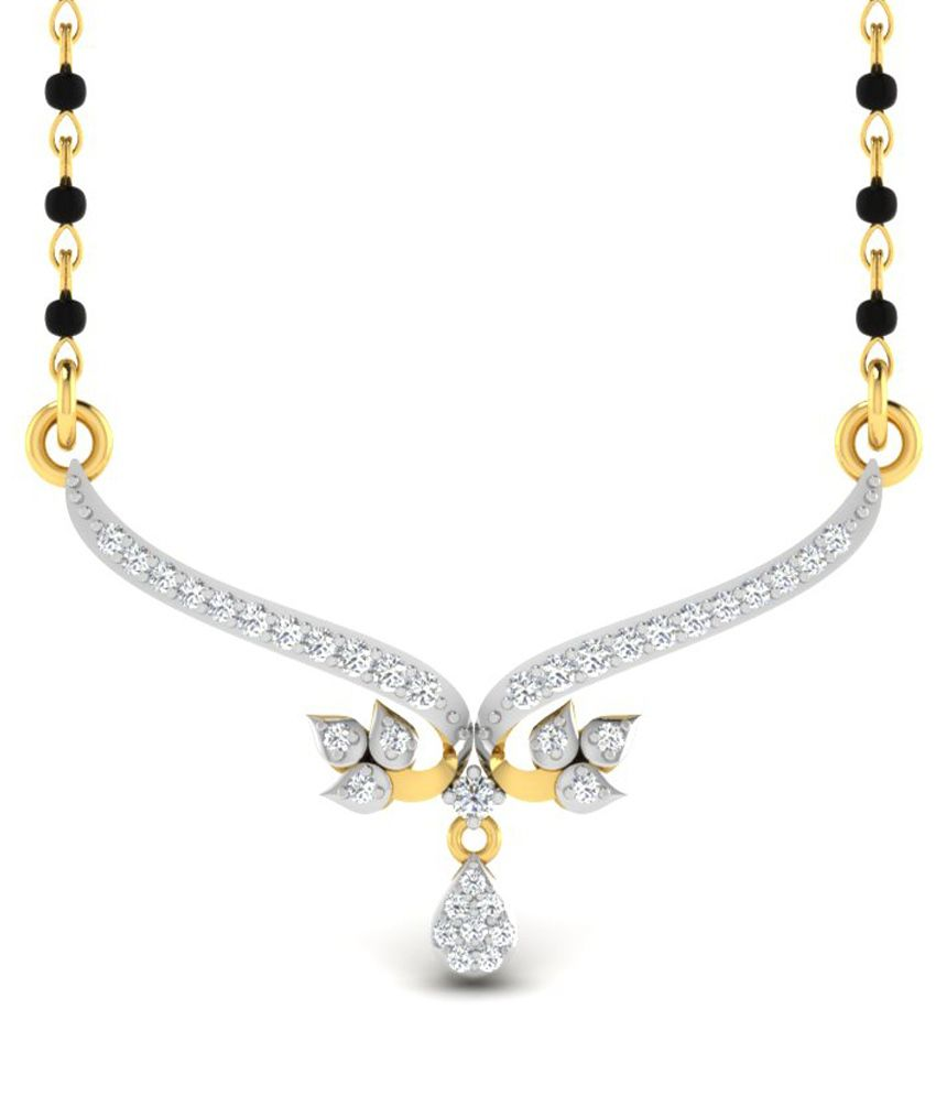 Sparkles 2.06 Ct Diamond & 18 Kt Gold Necklace for Women