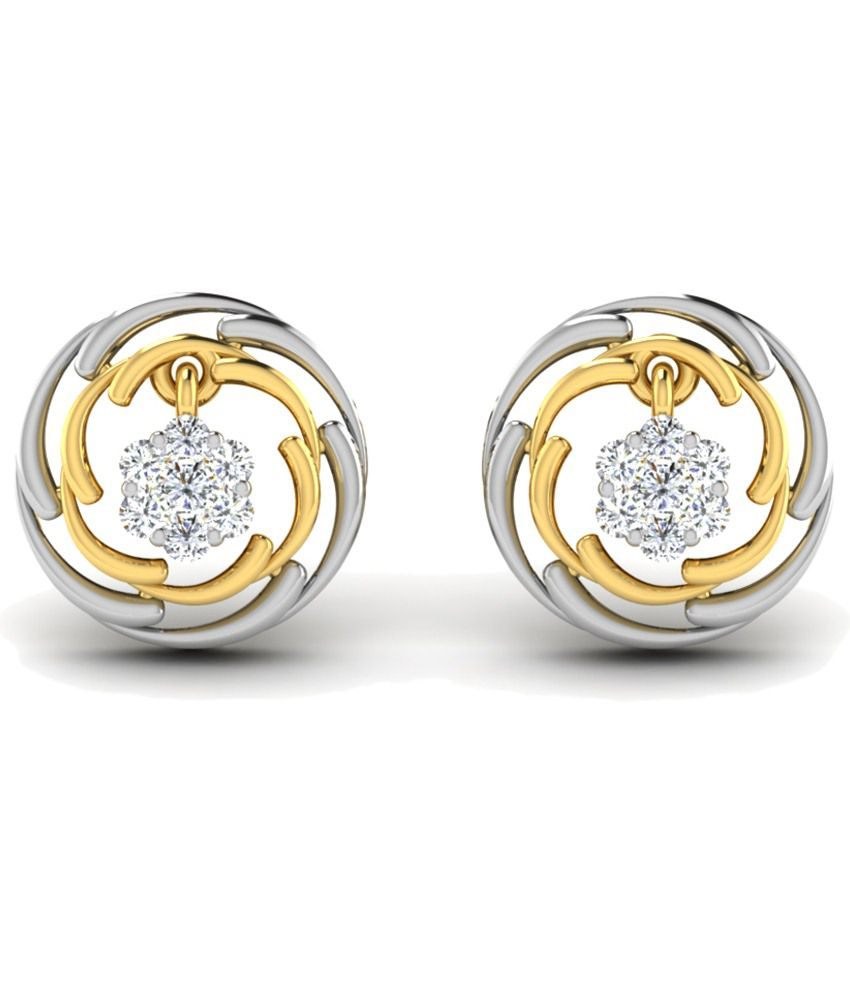 Sparkles Classic 0.1 Ct Diamond & 18 Kt Gold Stud Earrings