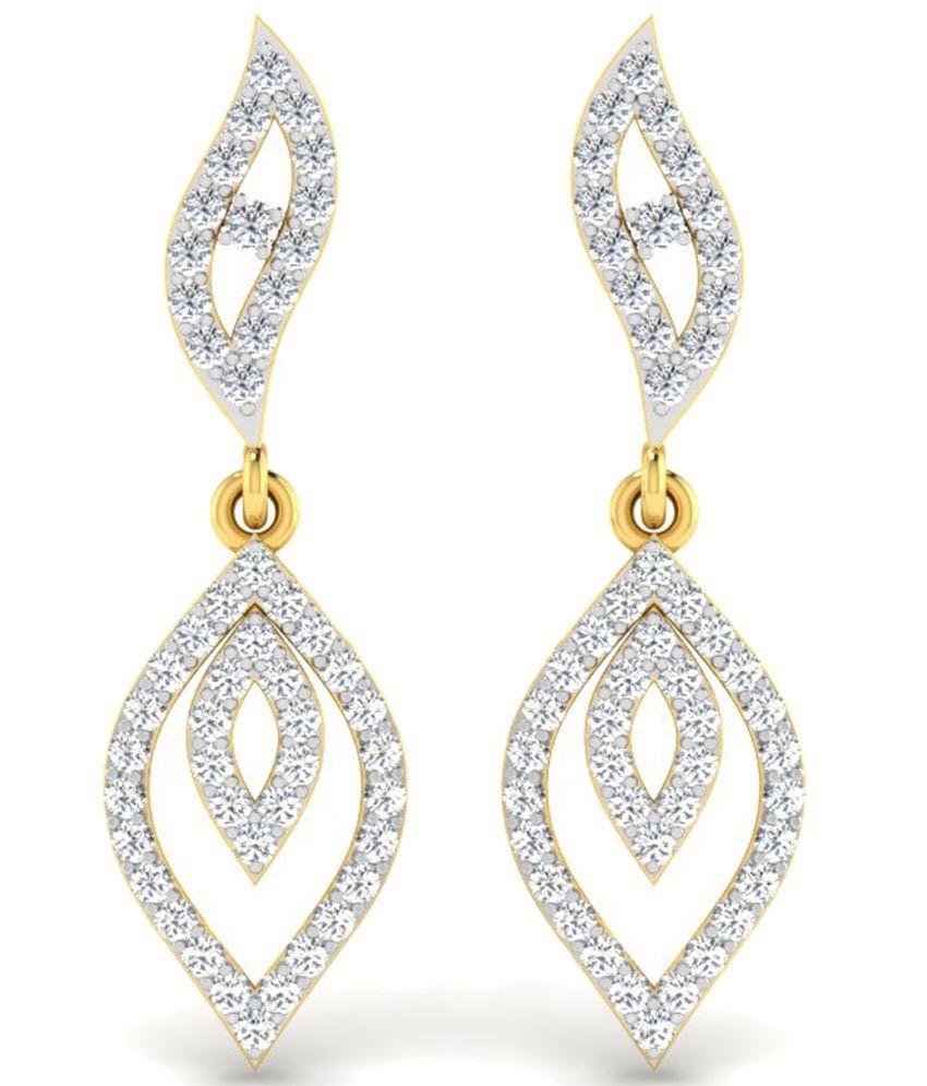 Sparkles Enchanting 0.5 Ct Diamond & 18 Kt Gold Hanging Earrings