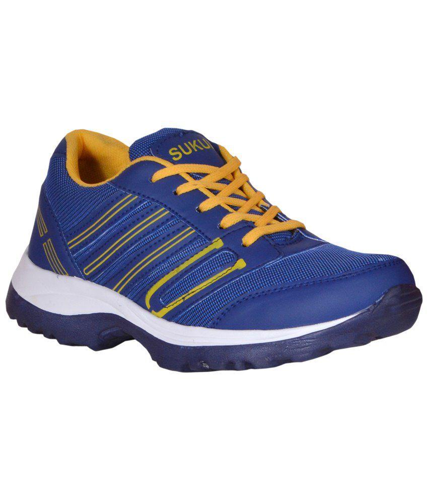 Sukun Orange & Blue Sports Shoes for Men