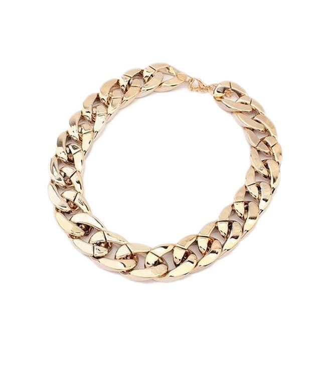 Amour Golden Alloy Designer Necklace