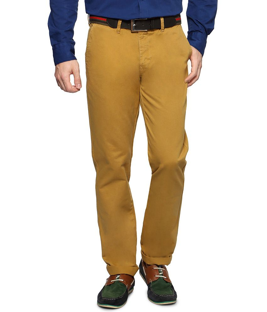 Byford by Pantaloons Khaki Casual Cambridge Fit Trousers
