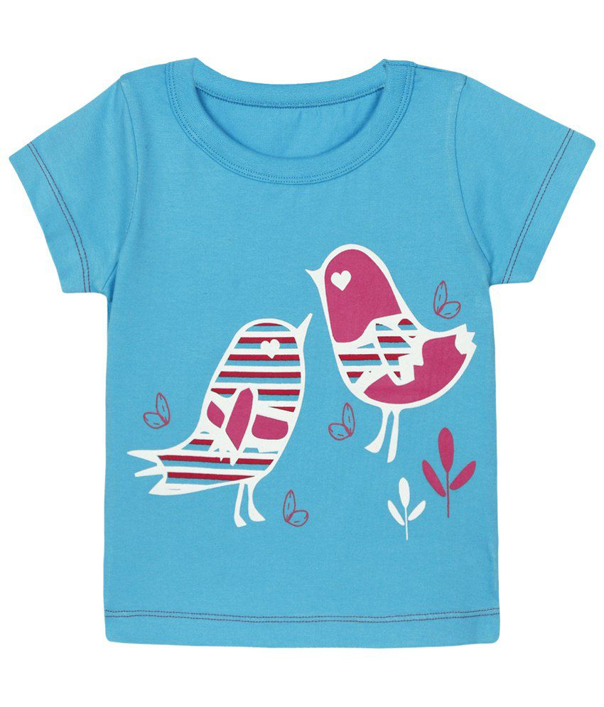 Ladybird Blue & Pink Half Sleeve baby tshirt for Kids
