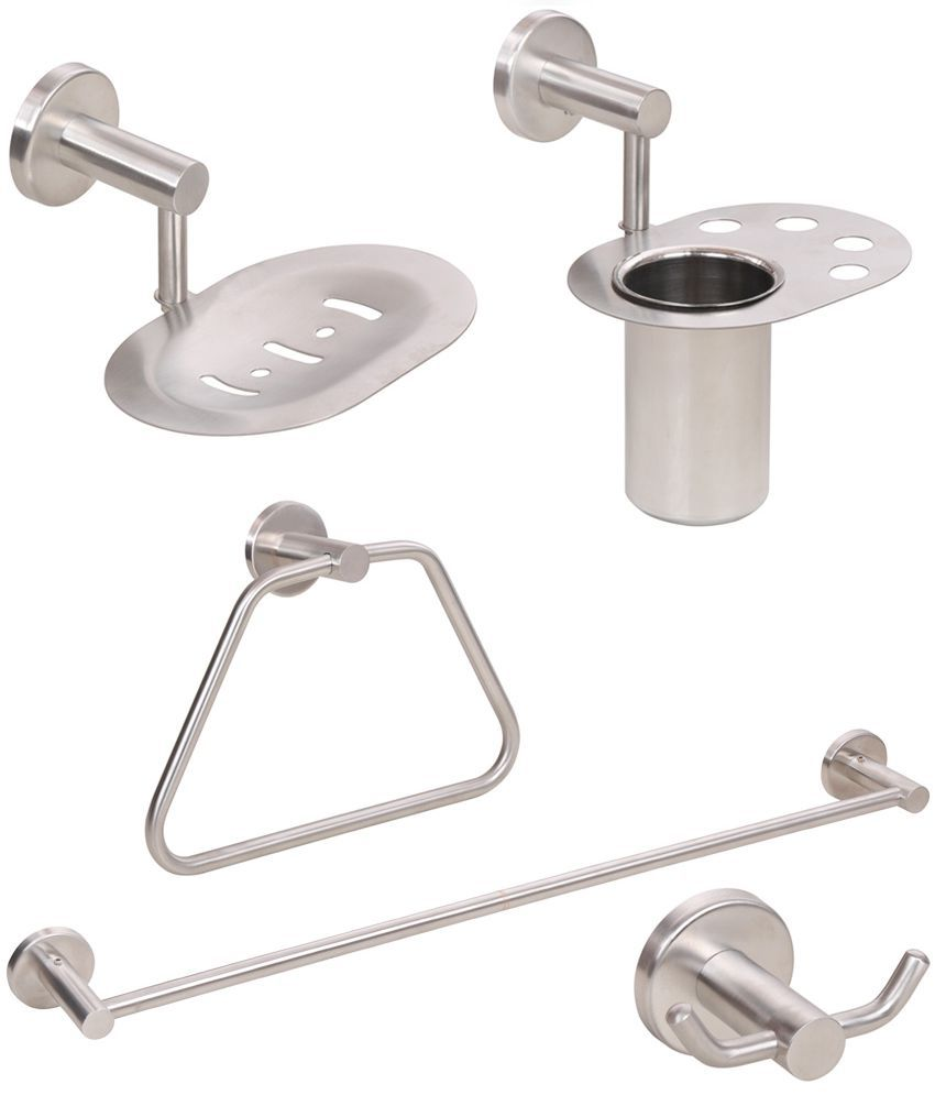 buy doyours 5 pieces stainless steel bathroom accessories set