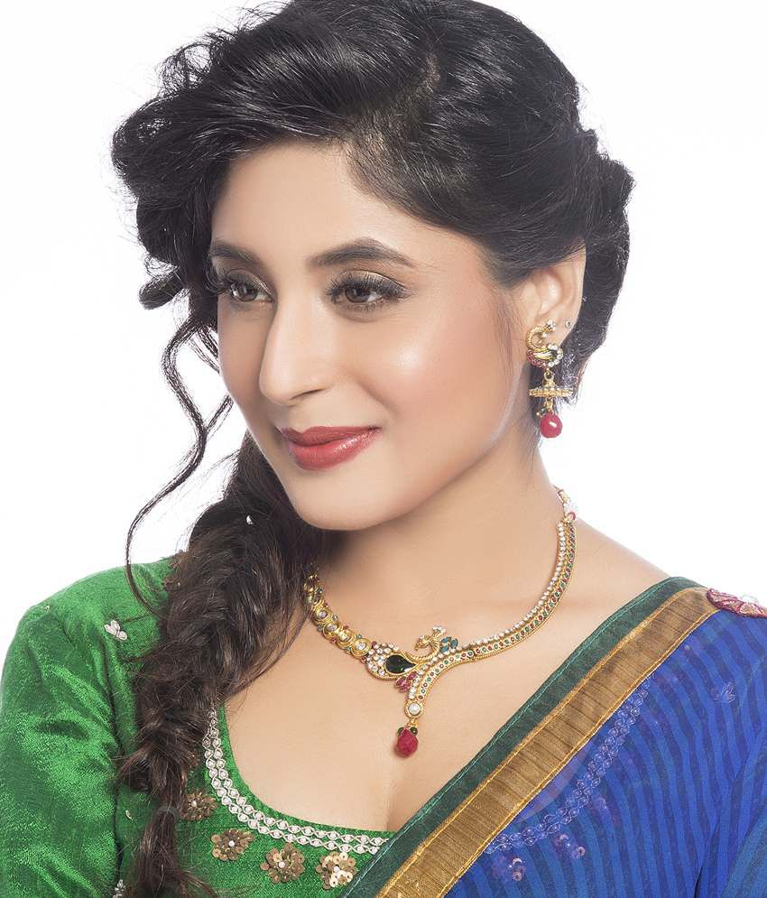 Sukkhi- Kritika Kamra Mayur Gold Plated Necklace Set