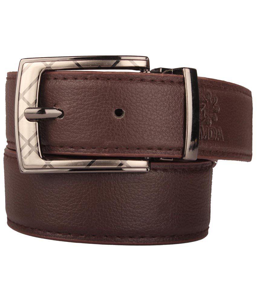 Umda Brown Formal Belt For Men