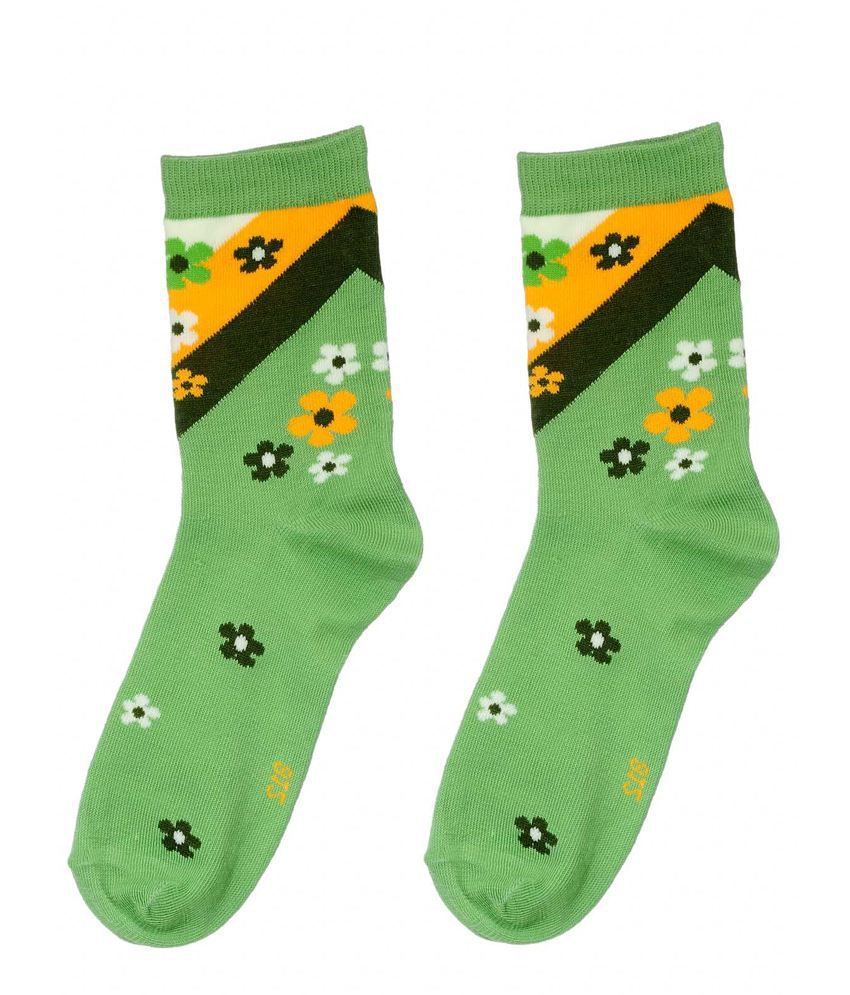 Kiosha Light Green Women Cotton Socks