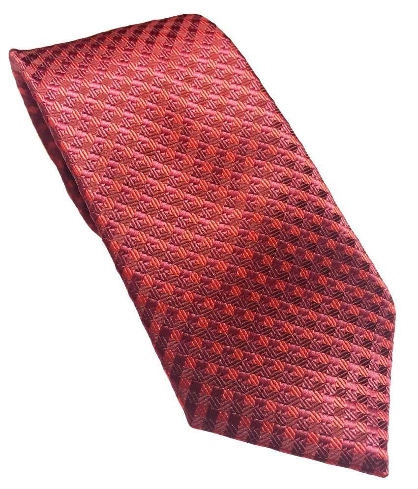 Peter England Red Satin Necktie For Men