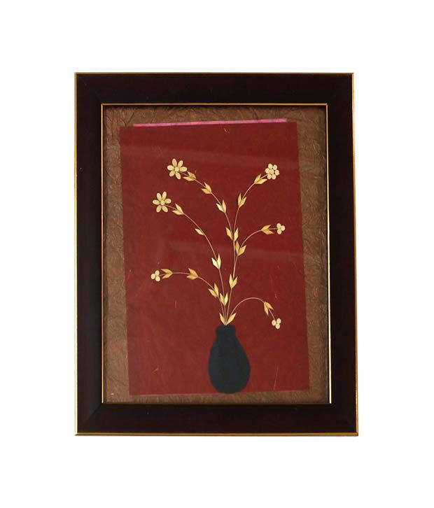 R S Jewels Wooden Flowers Designs Paper Painting