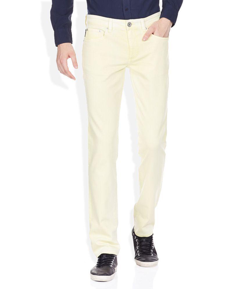 Calvin Klein Yellow Slim Fit Jeans